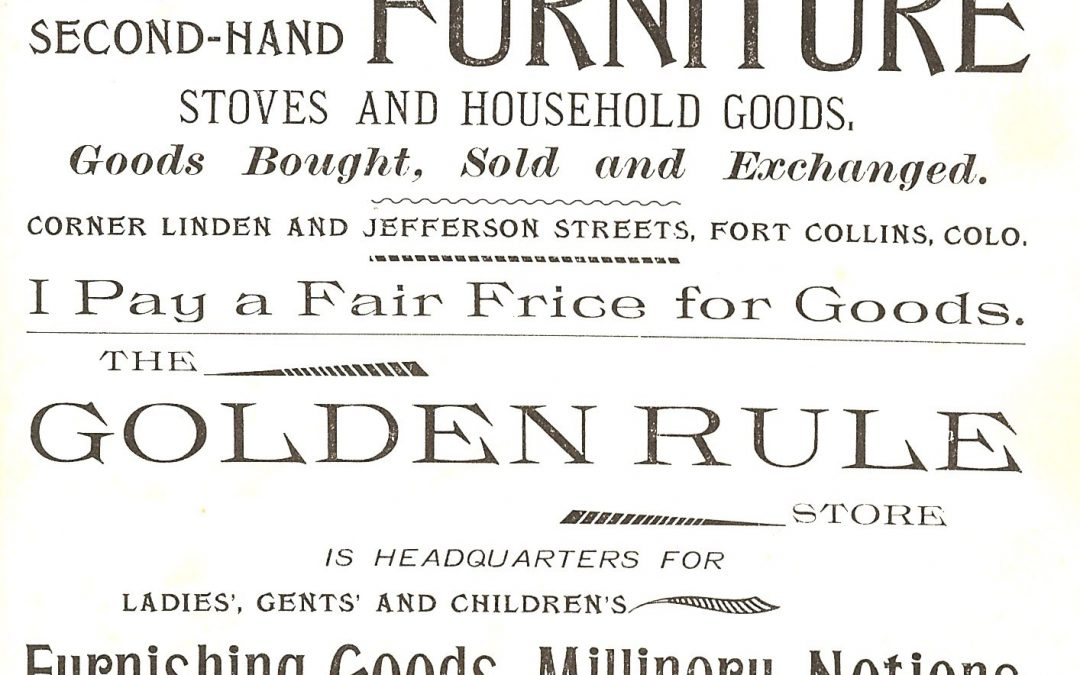 Vintage Fort Collins Cookbook – 1896